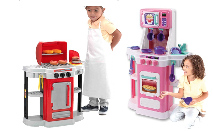Groupon my first cookin 39 kitchen playset or grillin 39 bbq for Kitchen set groupon