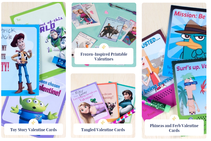 FREE Printable Valentines Day Cards Including Disney Princess – Disney Printable Valentine Cards