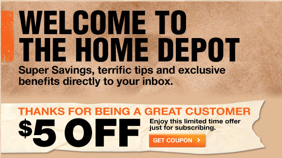 Home Depot Get A Off Coupon Good For Your Next 50