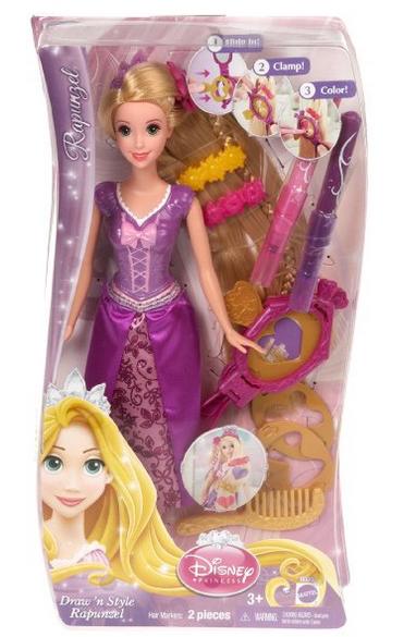 Disney Princess Draw N Style Hair Rapunzel Doll 7 16