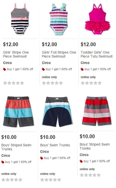 7ca13f76e7 Buy 1, Get 1 60% Off Swimwear for Kids at Target! - Freebies2Deals