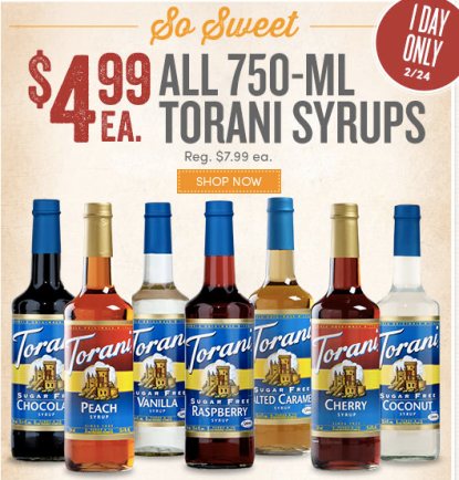 You are in top Torani Coupon Codes and Torani Promo Codes August 12222