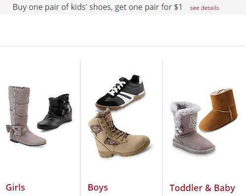 Kmart: Buy One Get One for $ | $/2 Shoes. Today, Kmart has a HOT Deal where you can Buy One Shoes and Get One for just $ with FREE Store Pickup. Even better, this deal is valid for the entire family (excludes Clearance, Hot Buys, Smart Buys and Everyday Great Prices).