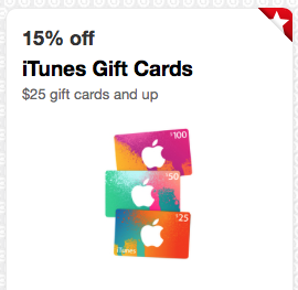 target cartwheel save 15 on itunes gift cards and more awesome