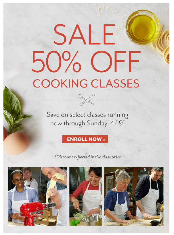 Sur la table coupon code cooking class