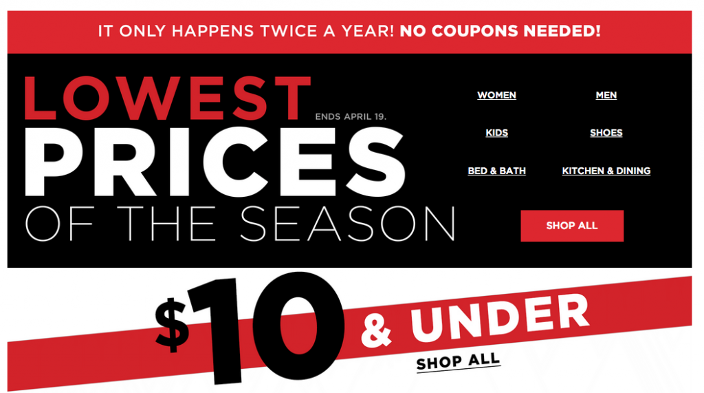 The Kohl\'s Lowest Prices of the Season Sale Has Started! Tons of ...