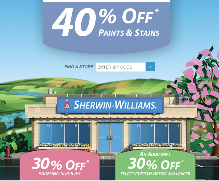 Printable Sherwin-Williams Coupons, sales and special offers. Save today on our exceptional quality paints, stains and painting supplies!