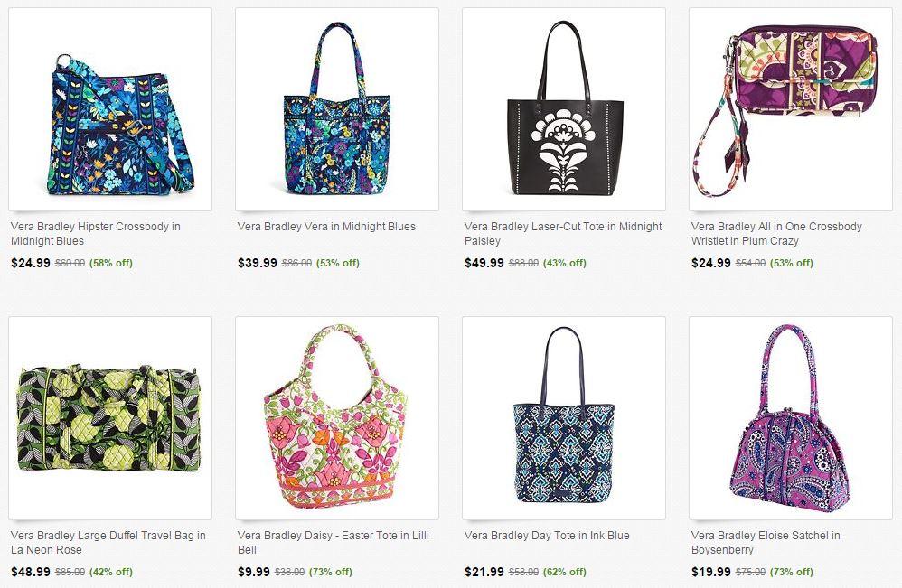 42853b3b3 Vera Bradley Sale on Ebay! Save Up to 70% Off Select Handbags ...
