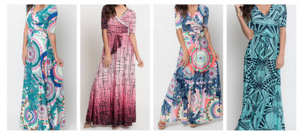 where can I find a maxi wrap dress that is affordable?