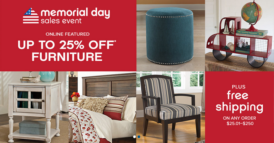 Ashley Furniture Memorial Day Sales Event Up To 25 Off Furniture