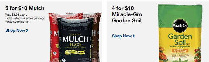 lowes bags of mulch 5 for 10 or miracle gro garden soil 4 for 10 - Lowes Garden Supplies