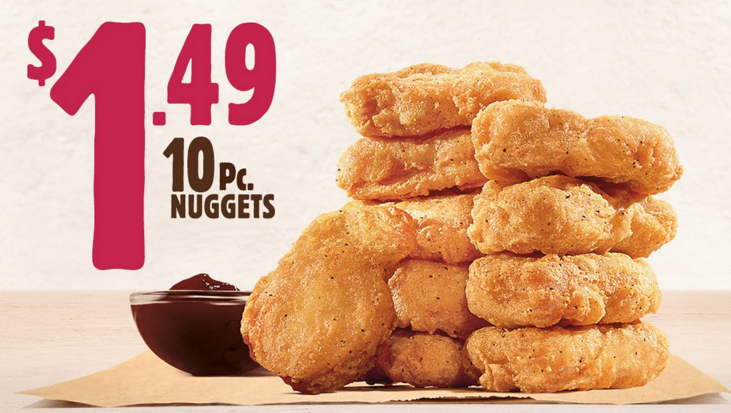 chicken nugget deal burger king