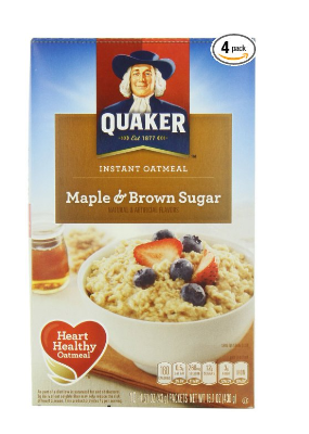 Grab A 4 Pack Of Quaker Instant Oatmeal 10 Pouch Boxes For