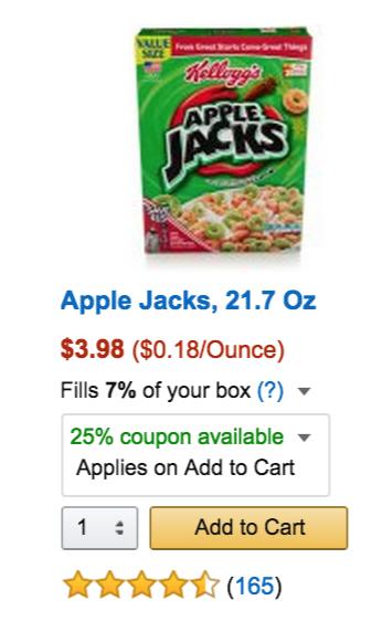 save money on apple jacks