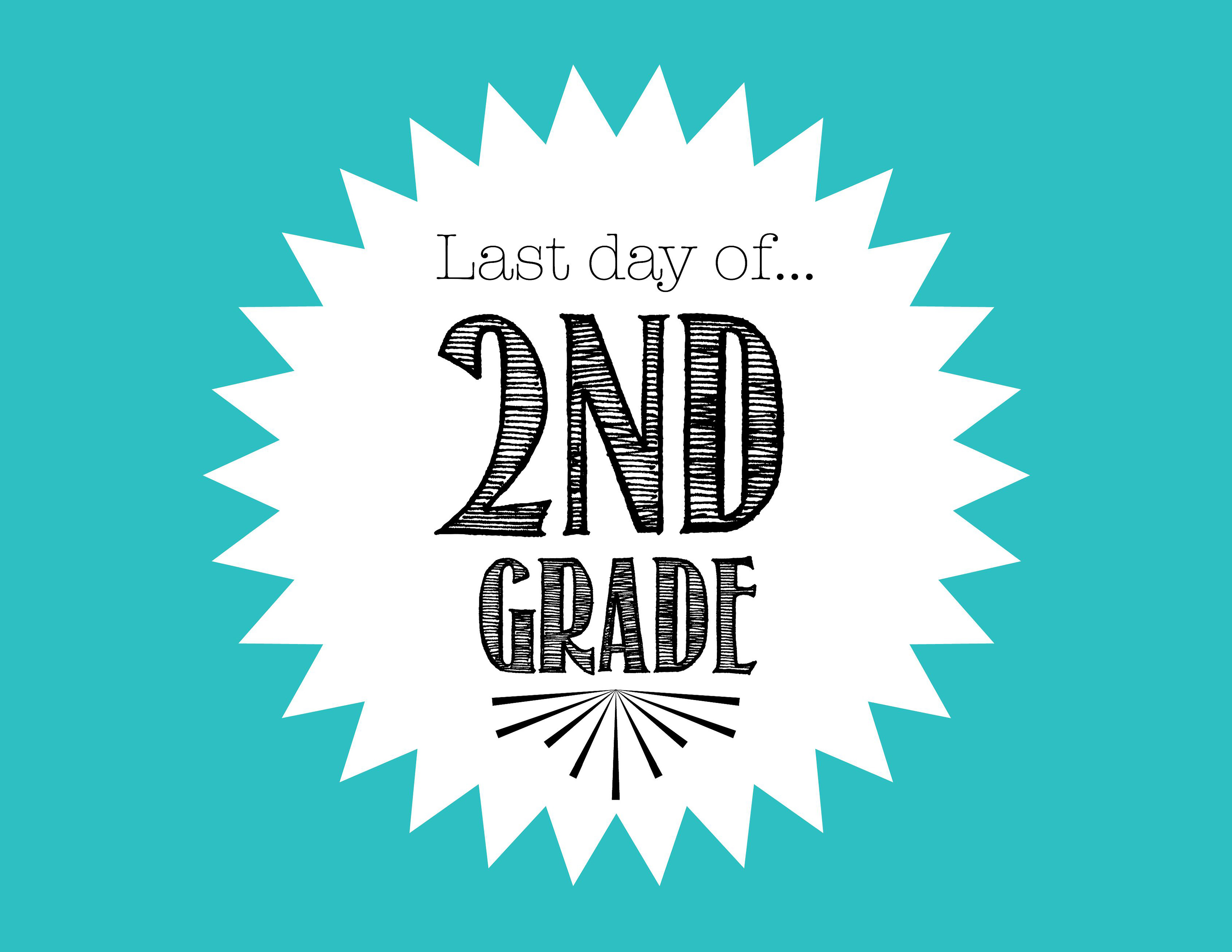 image about Last Day of 2nd Grade Printable referred to as Absolutely free Ultimate Working day of University Printable for 2nd Quality - Freebies2Promotions