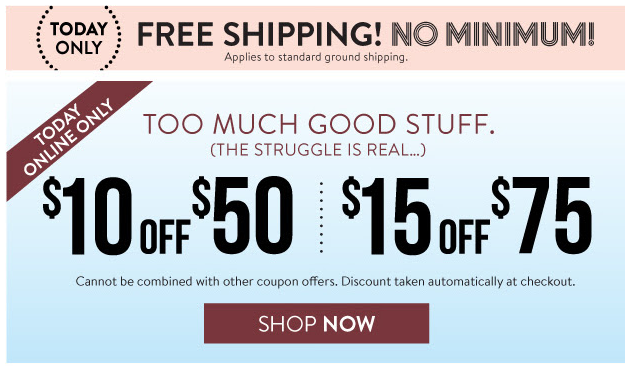 charlotte russe free shipping no minimum code