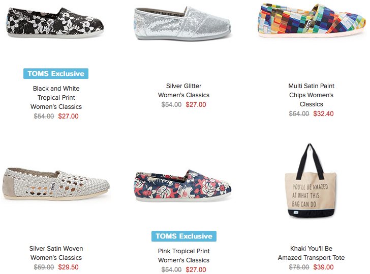 6ab20c6c519 TOMS Surprise Sale: Take up to 70% off Site Wide! Grab Women's Shoes for  Only $27! (Reg. $54) Plus, FREE Shipping on $25 or More!