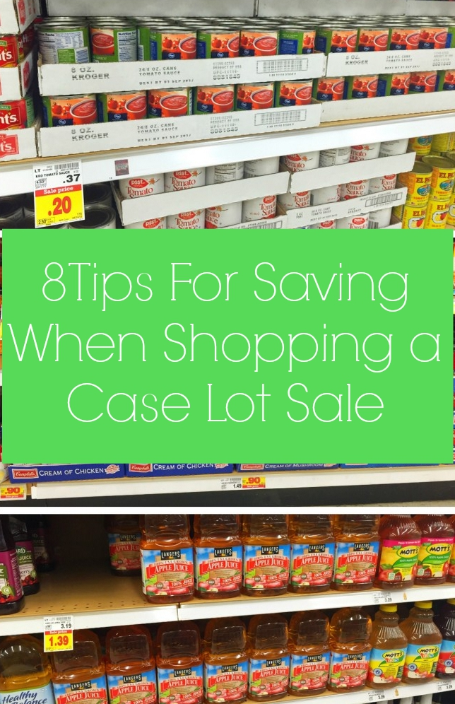 8 tips for saving when shopping a case lot sale