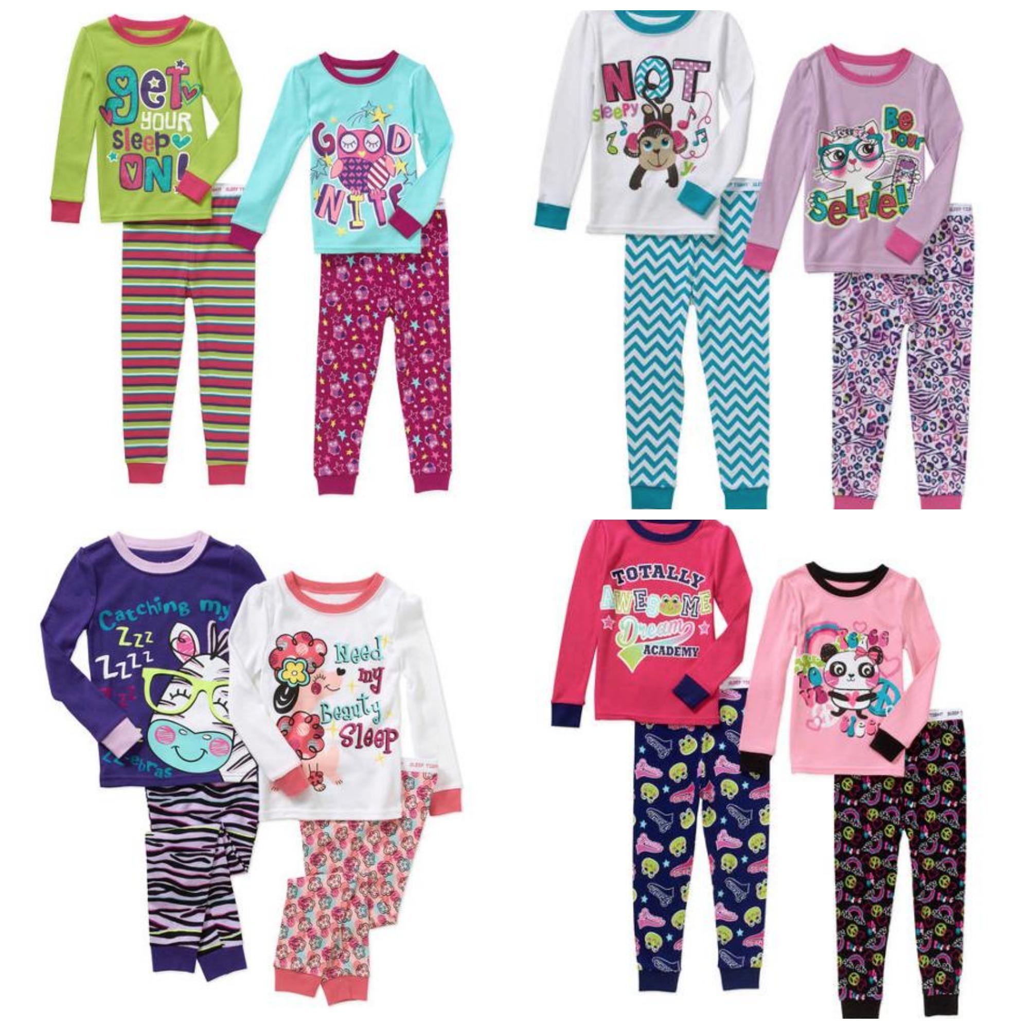0cf64aa681 ... freebies2deals-pjs5 Girl s Garanimals Baby Toddler Girl Cotton Tight  Fit Pajamas ...