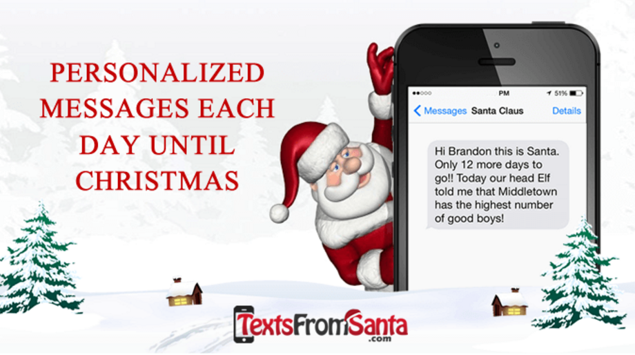 Score a discount on getting daily texts from santa texts from santa coupon code fandeluxe Choice Image