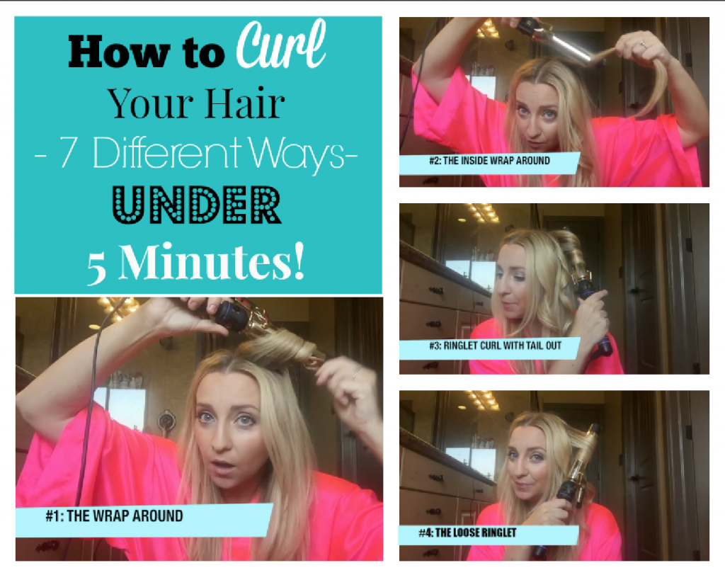 how to curl your hair different ways