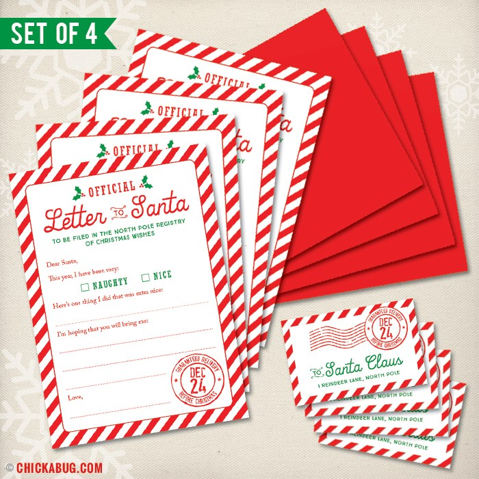 Official letter to santa kit 4 sets in each kit only 599 set of 4 official letter to santa spiritdancerdesigns Image collections