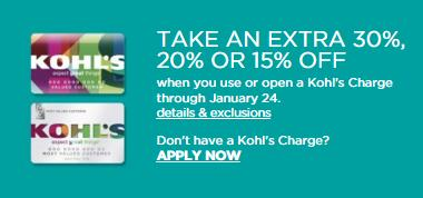 Kohls Card Holders: Take an Extra 30% off Your Purchase ...