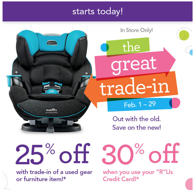 LAST DAY! Babies R Us: Great Trade-in Event is Here! Trade-in Used
