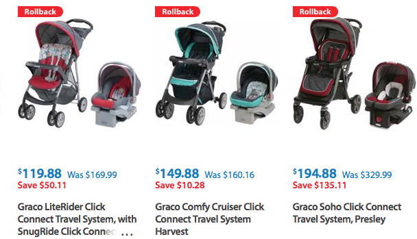 Highly Rated Graco Travel Systems On Rollback At Walmart
