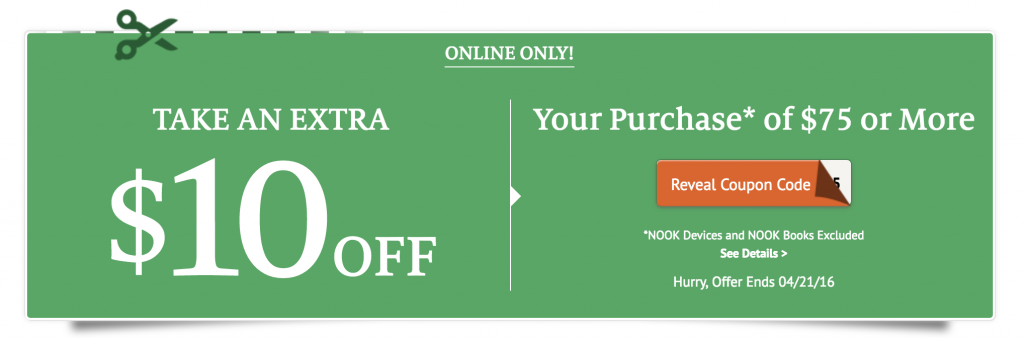 Barnes and noble coupon code free shipping