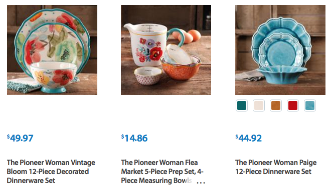 Remarkable Walmart Great Prices On The Pioneer Woman Brand Kitchen Home Interior And Landscaping Ologienasavecom