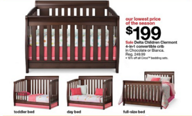 Nice Purchase the Delta Children Clermont in Convertible Crib for Plus Get a Target Gift Card for Baby Purchase of or more in ad Target