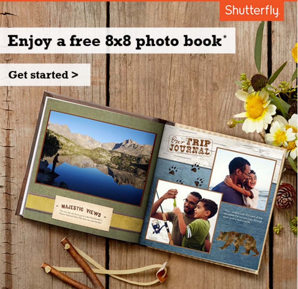 free shutterfly 8x8 photo book for p g everyday members check your