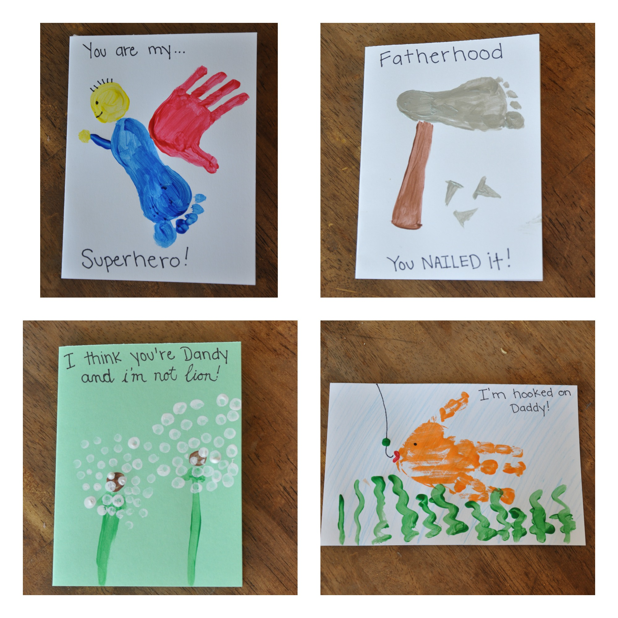 here they are 4 cute and pretty simple cards for your kids to create for dad just a few things to note its easier to paint the paint onto their hand - Things For Kids To Paint