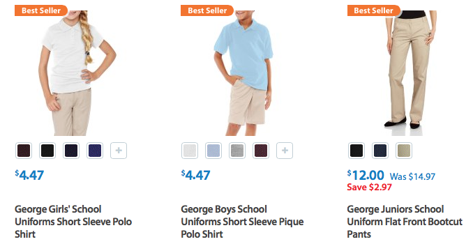 Back To School Uniforms At Walmart Prices Start At Only 400