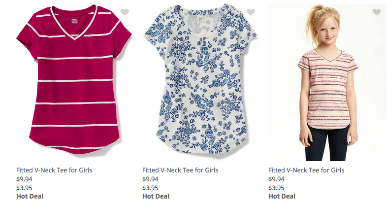 Old navy back to school sale 60 off girls v shirts for Old navy school shirts