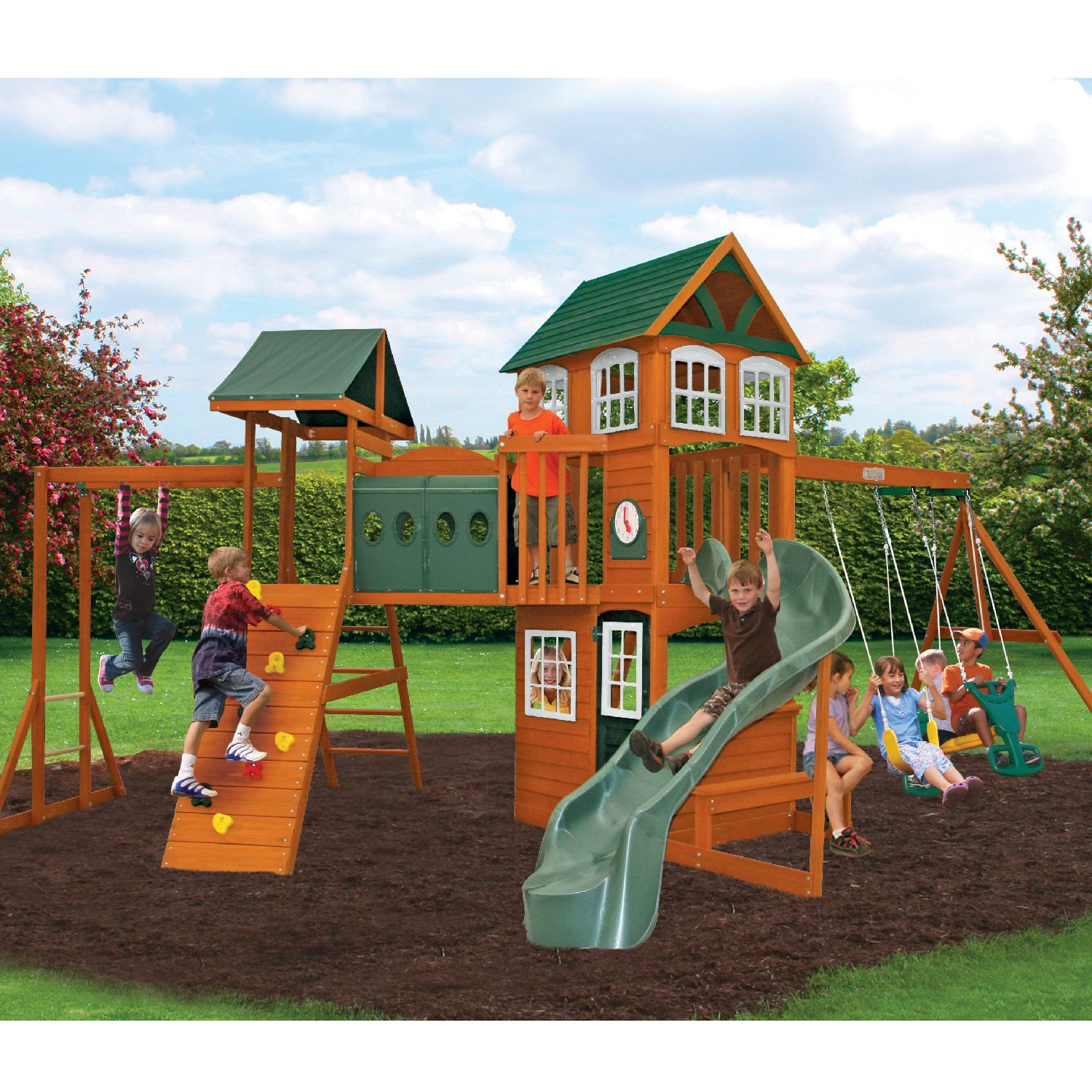 Hillcrest Wooden Play Set By Big Backyard Only 799 00 At Sam S Club