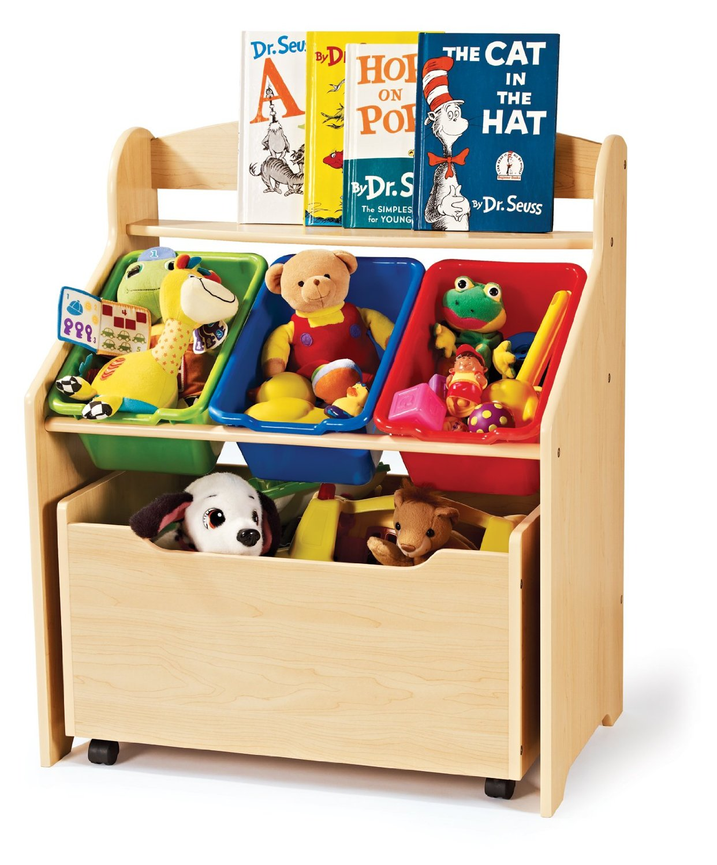 freebies2deals-toystorage2 - Tot Tutors Kids' Toy Organizer With Storage Bins (Primary Colors