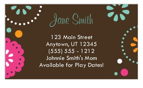 "50 FREE Business Cards From Shutterfly Great for ""Mommy"