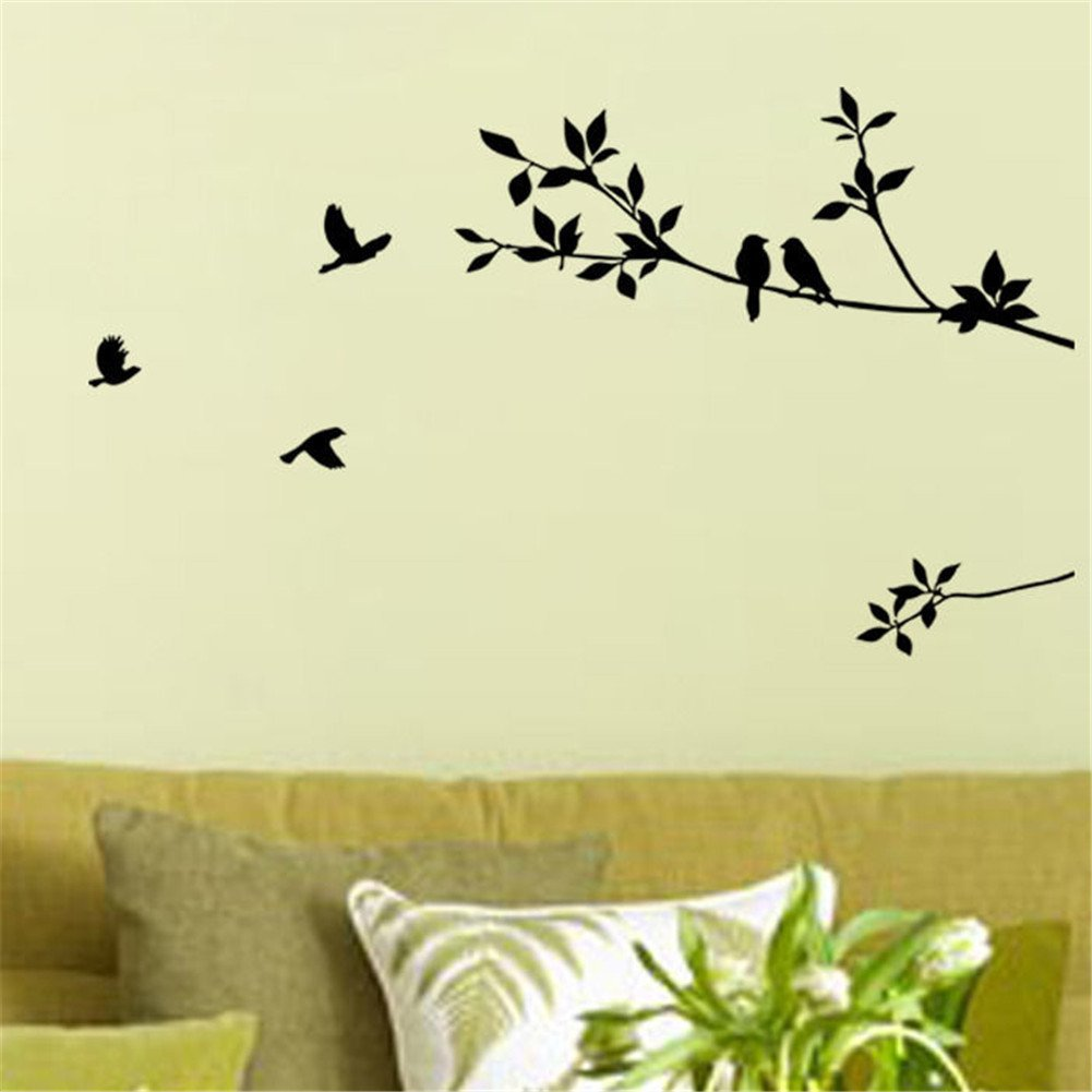 Black Birds and Tree Branch Wall Art Sticker Only $2.00 SHIPPED ...
