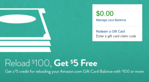 amazon gift card reload deal