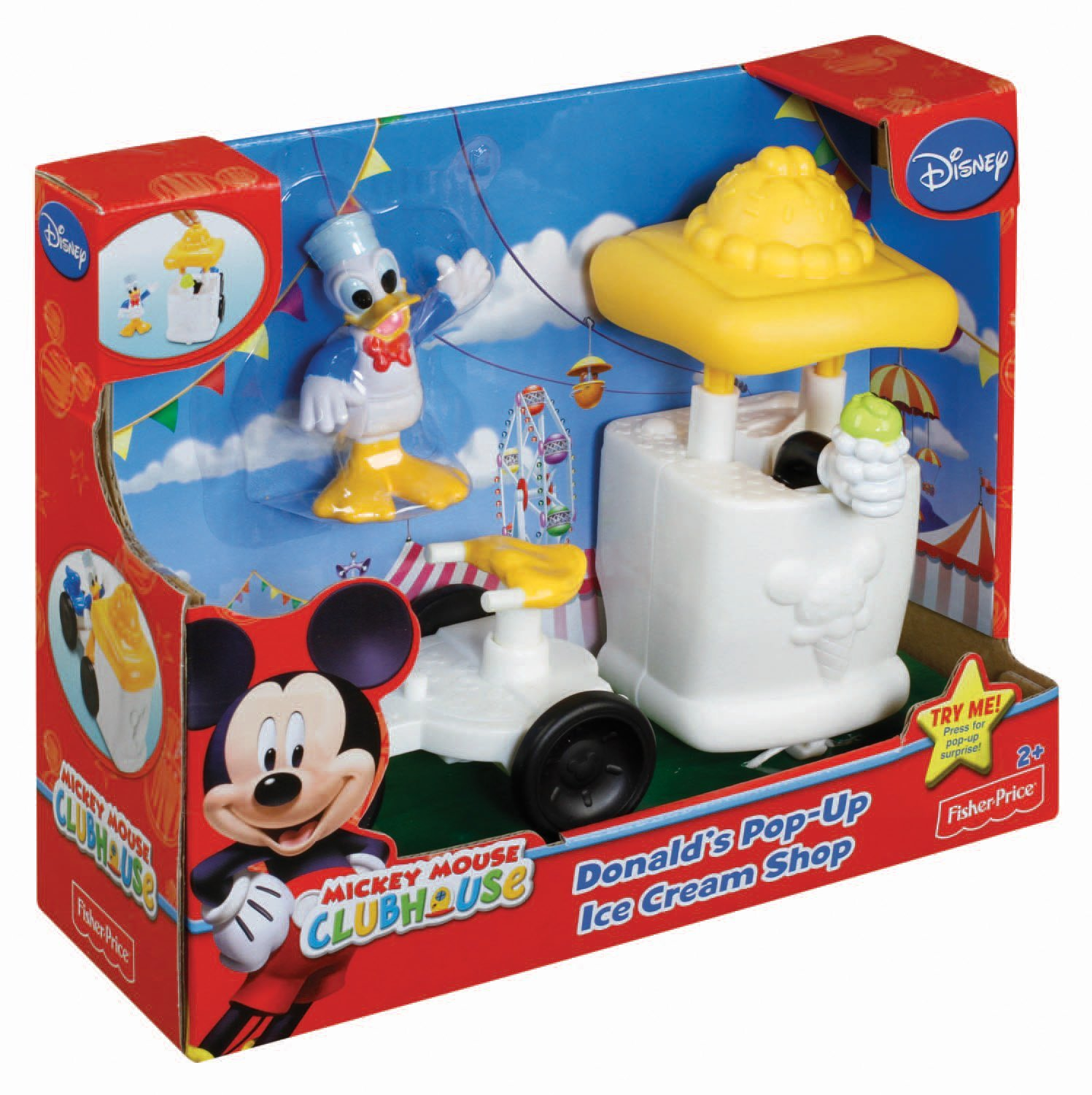 Amazon: Fisher-Price Mickey Mouse Clubhouse Donald Ice Cream Stand ...