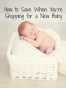 how to save when shopping for a new baby