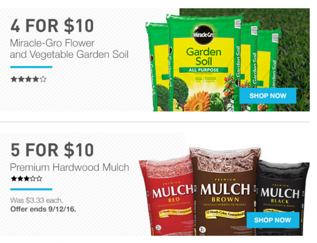 Labor Day Deals At Lowes! Garden Soil 4 For $10, Mulch 5 for $10, Up To 35% Off Appliance & More ...
