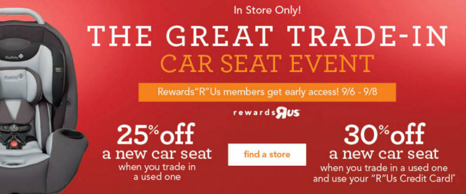 The Great Car Seat Trade In Event At Babies R Us Is Going On Now