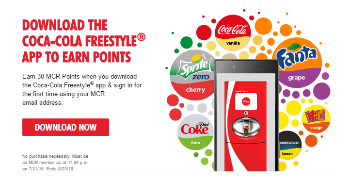 FREE Coke When You Download the Coca-Cola Freestyle App ...