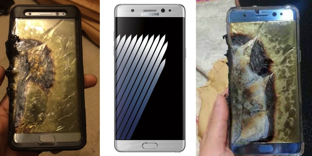 samsung note 7 exploding batteries