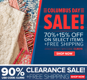 Columbus Day At Rugs Usa Free Shipping Plus An Additional 15 Off Ed 90 Clearance