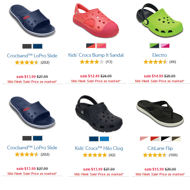 pretty nice ebda4 37795 Crocs Mid Week Sale Take Up To 50% Off! Prices Start At Just ...