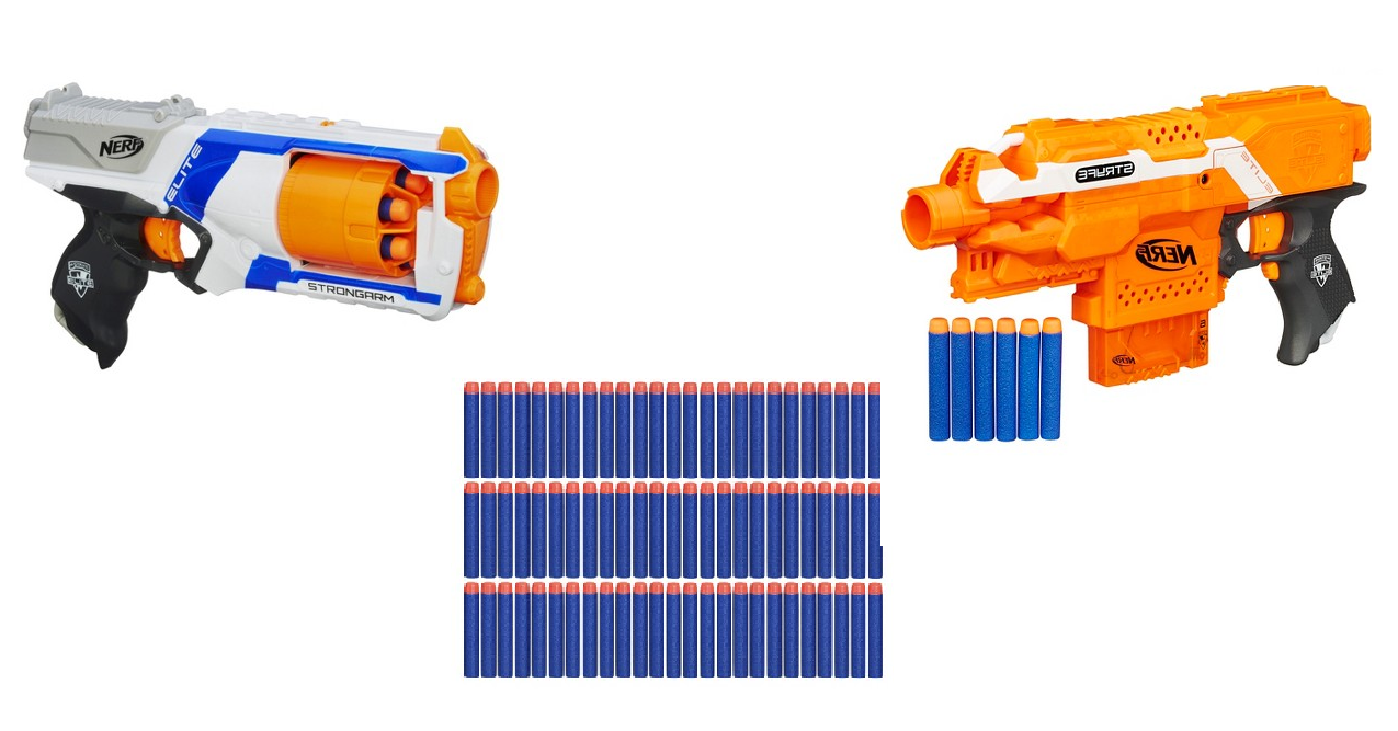Here's some great nerf deals for you! Target has the Nerf N-Strike Elite  Strongarm Blaster for $7.99 but when you use coupon code KIDSGIFTS the  price will ...